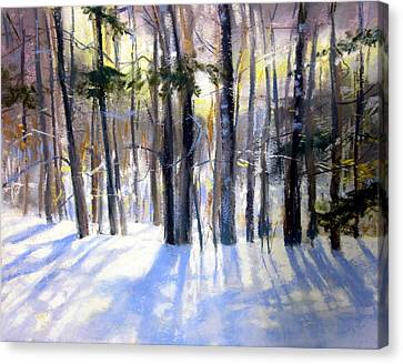 January Blues Canvas Print by Jeanne Rosier Smith