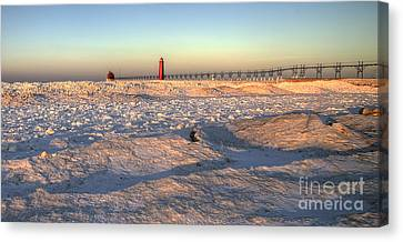 January In Grand Haven Canvas Print by Twenty Two North Photography