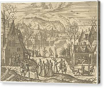 January, Pieter Van Der Borcht Canvas Print by Pieter Van Der Borcht (i)