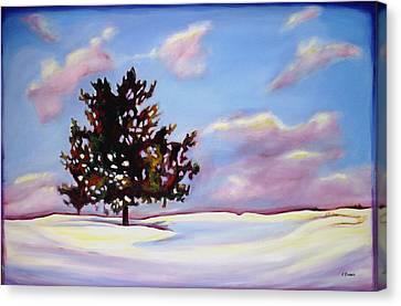 January Canvas Print by Sheila Diemert