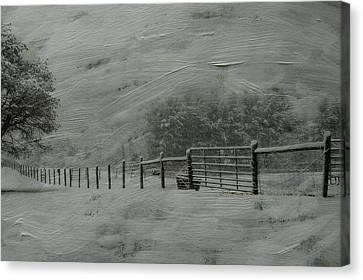 January Storm Canvas Print by Kathy Jennings