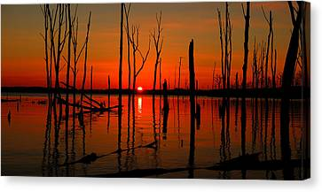January Sunrise Canvas Print by Raymond Salani III