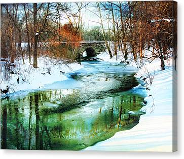 January Thaw Canvas Print by Jessica Jenney