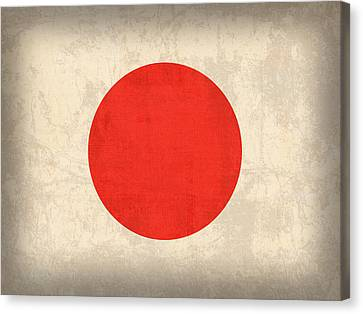 Japan Flag Vintage Distressed Finish Canvas Print by Design Turnpike