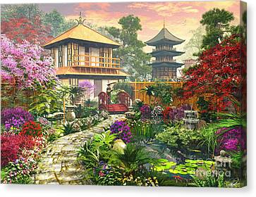 Pathway Canvas Print - Japan Garden by Dominic Davison