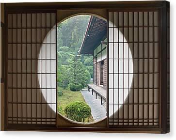 Japan, Kyoto, Sesshuji Temple, Tea Canvas Print by Rob Tilley