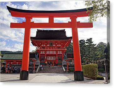 Torii Canvas Print - Japan, Kyoto Torii Gate In Front by Jaynes Gallery