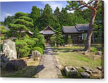 Japan, Nara Grounds Of The Shingon-in Canvas Print by Jaynes Gallery