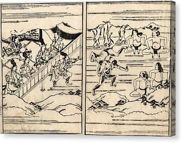 Japan Sumo Wrestlers Canvas Print by Granger