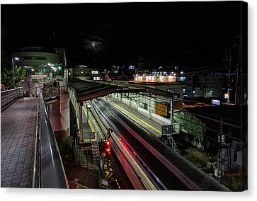 Japan Train Night Canvas Print by John Swartz
