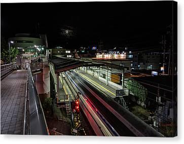 Japan Train Night Canvas Print