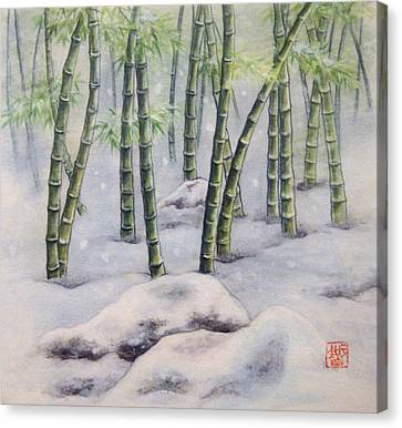 Japanese Bamboos Canvas Print by Tomoko Koyama