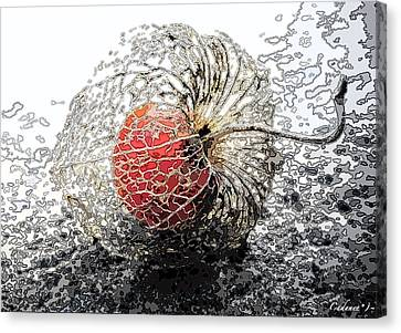 Japanese Berry Canvas Print by Cadence Spalding
