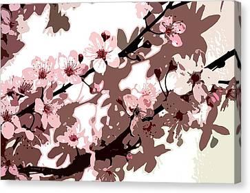 Japanese Blossom Canvas Print by Sarah OToole