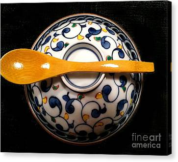 Canvas Print featuring the photograph Japanese Bowl by Carol Sweetwood