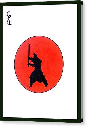 Japanese Bushido Way Of The Warrior Canvas Print by Gordon Lavender