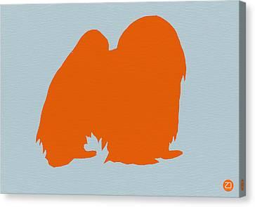 Japanese Chin Orange Canvas Print by Naxart Studio
