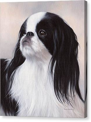 Japanese Chin Painting Canvas Print by Rachel Stribbling