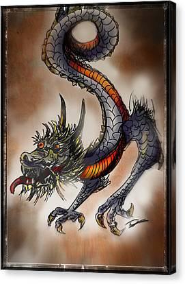 Japanese Dragon Canvas Print by Tim Nichols