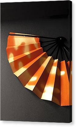 Japanese Fan Canvas Print by Andrew Campbell