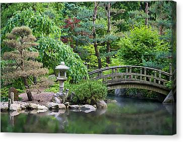 Japanese Garden Canvas Print by Adam Romanowicz