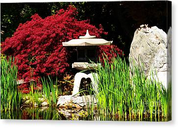 Japanese Garden Canvas Print by Angela DeFrias