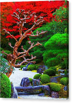 Canvas Print featuring the photograph Japanese Garden by Julia Ivanovna Willhite
