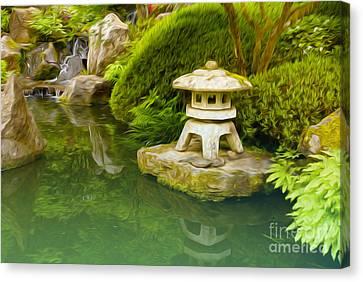 Japanese Garden Canvas Print by Nur Roy