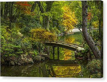 Canvas Print featuring the photograph Japanese Garden by Sebastian Musial
