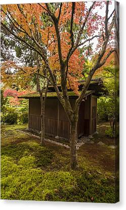 Japanese Garden Teahouse Canvas Print by Mike Reid