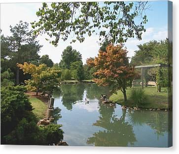 Japanese Gardens 2 Canvas Print by Julie Grace