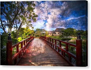 Japanese Gardens Canvas Print by Debra and Dave Vanderlaan