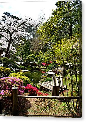 Japanese Gardens Canvas Print by Holly Blunkall