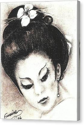 Japanese Girl. Canvas Print by Francine Heykoop