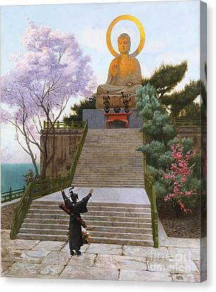 Japanese Imploring A Divinity Canvas Print by Jean Leon Gerome