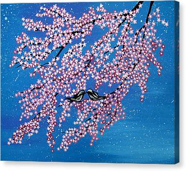 Japanese Joy Canvas Print by Cathy Jacobs