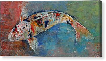 Coy Canvas Print - Japanese Koi by Michael Creese