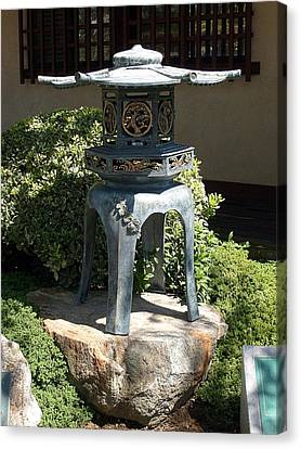 Canvas Print featuring the photograph Japanese Lantern by Philomena Zito