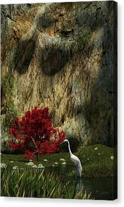Canvas Print featuring the digital art Japanese Maple by Matt Lindley