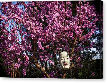 Japanese Mask Canvas Print by Garry Gay