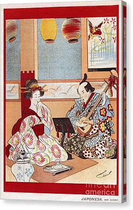 Japanese Music Scene 1898 1890s Japan Canvas Print by The Advertising Archives