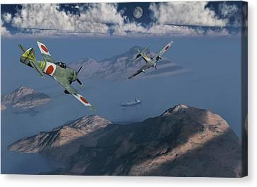 Japanese Nakajima Ki-84 Fighter Planes Canvas Print