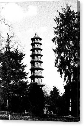 Japanese Pagoda At Kew Gardens Canvas Print