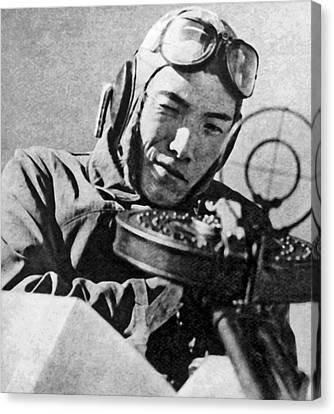 Japanese Pilot Aims Canvas Print by Underwood Archives