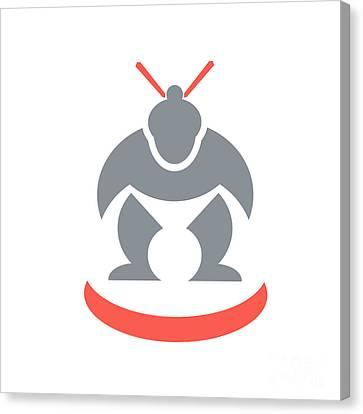 Japanese Sumo Wrestler Front Canvas Print by Aloysius Patrimonio