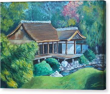 Japanese Tea House Canvas Print by Joseph Levine