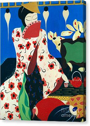 Japanese Tea Canvas Print by Jacquelinemari