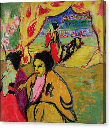 Japanese Theatre, 1909 Oil On Canvas Canvas Print by Ernst Ludwig Kirchner