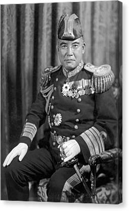 Japanese Vice Admiral Nomura Canvas Print by Underwood Archives