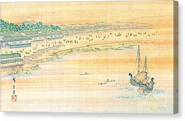 Japanese Village 1890 Canvas Print by Padre Art